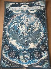 🔥 The Avett Brothers Poster Albuquerque NM 2018 AE S/N BLUE GLOWS IN THE DARK!