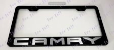 CAMRY Toyota 2018 Stainless Steel Black License Plate Frame Rust Free