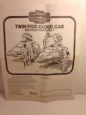 Kenner Star Wars The Empire Strikes Back Twin Pod Cloud Car Instruction Sheet