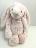 "Little Jellycat Bashful Light Pink Bunny Rabbit Plush Soft 12"" Sitting Stuffed"