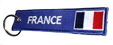 Embroidered FRANCE French Flag Keyring / FRANCE Drapeau Français Porte-Clés