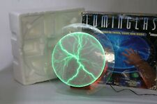 """Luminglas 16"""" Green Tesla Plasma Light Glass Plate With Touch & Music Activated"""