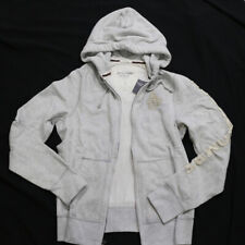 NWT Abercrombie & Fitch A&F Mens Premium Hoodie Jacket heather gray Size L NEW