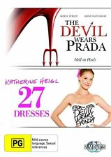 THE DEVIL WEARS PRADA and 27 DRESSES DVD=2 DISC SET=REGION 4 AUST=NEW AND SEALED