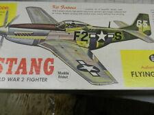 P-51 Mustang Balsa Airplane Kit Vintage Guillows