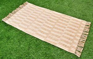 2.3X3.5 Ft. Rug Woven Carpet Reversible Runner Turkish Dhurrie Geometric Carpet
