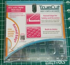 "New Truecut 6.5"" X 6.5"" Rotary Cutter Ruler Raised Edge by Grace Company"