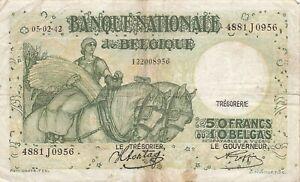Belgium 50 Francs 1942 P-106