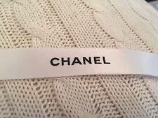 CHANEL Classic White Satin Logo Ribbon