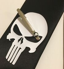 Punisher Necktie And Tie Clip, Great Quality, Very Stylish And Cool
