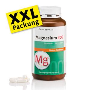 Magnesium-400-supra-Kapseln hochdosiert, Knochen Muskeln, 300 Stk Sanct Bernhard