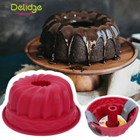Ring Silicone Bakeware Mould Chiffon Cake Pan Bread Pastry Tin Baking Mold Tool