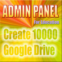 Admin Panel Education Can Creat 10000 users for Google apps For Education