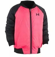 NWT UNDER ARMOUR GIRLS REVERSIBLE BOMBER JACKET ~ SIZE YOUTH LARGE ~ MSRP $70.00