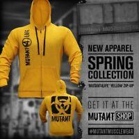 Mutant Bodybuilding Hoodie Men's New Black Long Sleeve Sweatshirt Gym Pullover