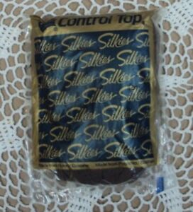 Vtg SILKIES CONTROL TOP Pantyhose ~ 070605 X-Queen / XXL ~ TAUPE ~ Made in USA