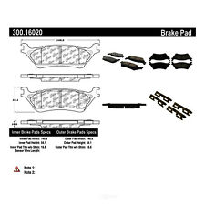 Disc Brake Pad Set-Premium Semi-Met Pads with Shim and Hardware Rear fits F-150