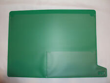End Tab Green Poly/Vinyl File Out Guide Bottom Tab 2 Pocket Letter Size 25/Pack