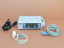 Nellcor N-560 Pulse Oximeter Monitor+Adult SpO2 Finger Clip+Adapter+Warranty