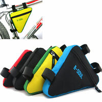 Triangle Cycling Bike Bicycle Front Tube Frame Pouch Bag Holder Saddle Panniers