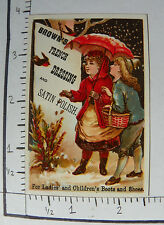 BROWN'S FRENCH DRESSING&SATIN POLISH SHOES BOY GIRL UMBRELLA SNOW  BIRD 1353
