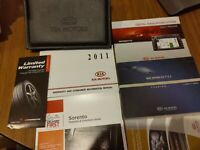 2011 Kia Sorento Factory Owners Manual OEM with Case and Extras
