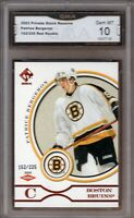 GMA 10 Gem Mint PATRICE BERGERON 2003/04 Private Stock Reserve RED ROOKIE Card!