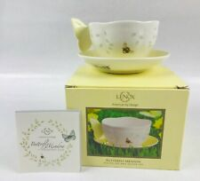 Lenox Butterfly Meadow Figural Yellow Cup & Saucer New