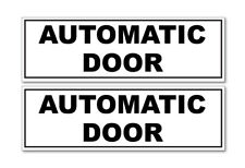 AUTOMATIC DOOR BLACK AND WHITE HORIZONTAL, car, van decal sticker, business