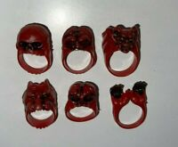 Vintage 1960s Monster Zombie Head Gumball Machine Ring UNIVERSAL GHOUL RED