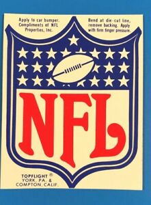 VINTAGE 1977 NFL  STICKER - MINT - Made in the USA!