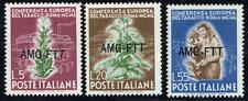 ITALY/TRIESTE 1950 EUROPA TOBACCO CONFERENCE SC#85-87 MNH CV$46.75 FOOD FLOWERS