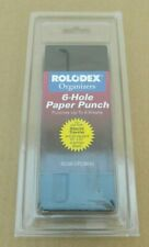 New listing Vtg 1995 Rolodex 6-Hole Paper Punch Ro 69/Upc98143 For 6.75 x 3.25 Pages-Mc