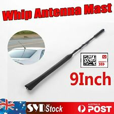 "9"" WHIP Fuba Style Antenna Radio Signals FM/AM Mast Car UTE MPV Top Roof Aerial"