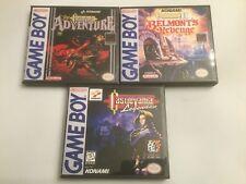 Castlevania Adventure,Belmonts Revenge, + Legends-  Game Boy GB Cases-*NO GAME*