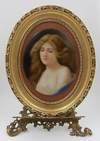 MAGNIFICENT KPM PORCELAIN PORTRAIT  PLAQUE ~SIGNED & FRAMED