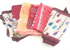 Vintage Scarf Lot of 6 Scarves Pink Burgundy Peach