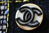 1 One  Authentic Chanel Button 1 pieces black & gold  logo cc 💋 1 inch
