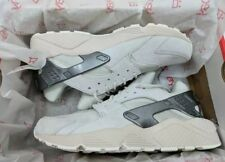 Nike Air Huarache PRM Premium Mens Running Bone White Metallic Grey 704830-013