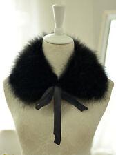 Women Real Farm Ostrich/Turkey Feather Fur Collar Wedding Bridal Red Scarf Wrap