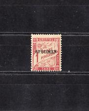 timbre France  taxe   1f  lilas-brun    surchargé  spécimen   NUM: 40-CI 2   *