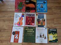 Lot Of 10 Vintage Guitar & Violin Music Books