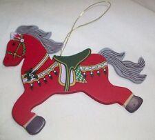 wood - Horse Christmas Ornaments