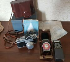 Vintage ZENIT-C Camera With Case And 2 Light Meters