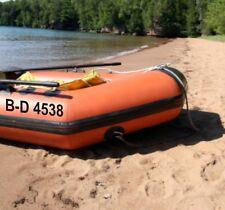 Schlauchboot Kennzeichen Bootsnummer 2 Stück FZ2896