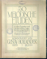 Gustav Hollaender ~ 50 Melodische Etüden Heft 2, Violine, alt, übergroß