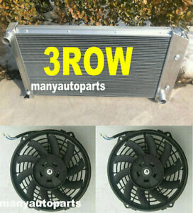 For Pontiac Firebird radiator & fans Trans Am 1970-1981 3 rows  Aluminum