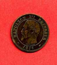 (BR.61) 2 CENTIMES NAPOLÉON III 1856 A (TTB+)