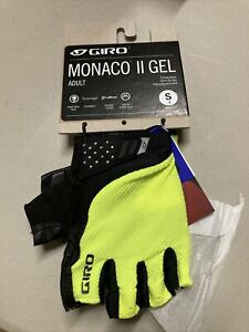 ! Giro Monaco II Gel Adult Small Cycling Bike Gloves Highlighter Yellow
