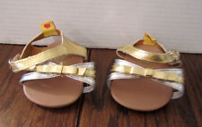 Build-A-Bear Girl's Shoes -- Silver & White sandals/dress shoes